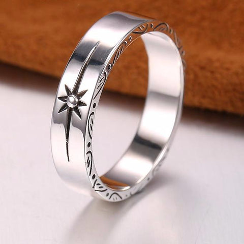 Ring simple sun 925 Silver
