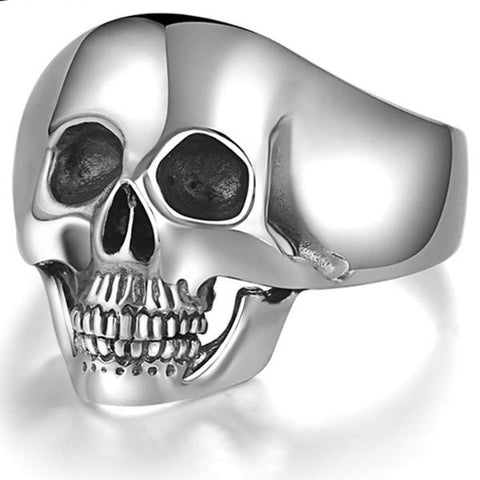 Silver Skull Ring Domineering