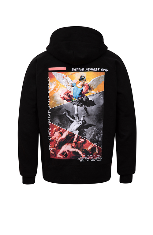 Battle Against Evil Hoodie (Black) - Blessed Individual