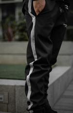 Neoprene Triple Striped Joggers - Blessed Individual