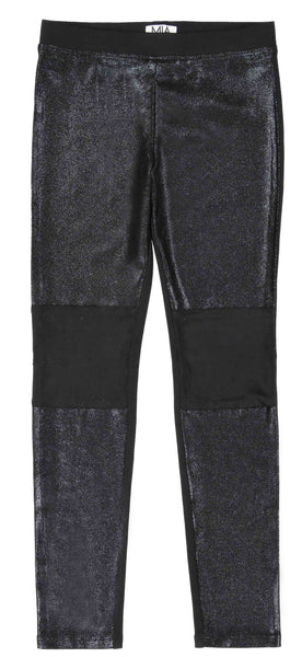 CLASSIC PONTE PANT WITH SUEDED LEATHER