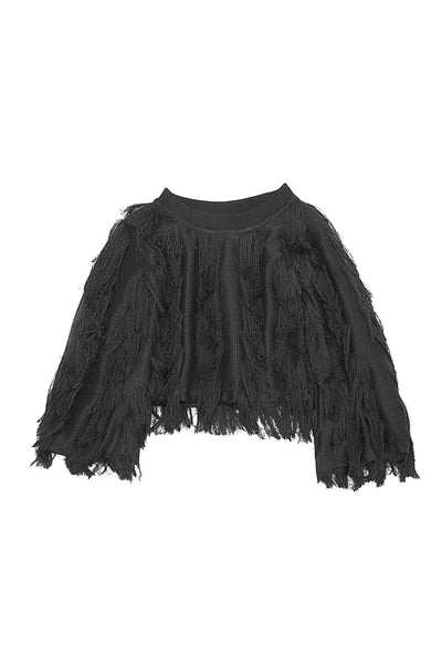 FRINGE TOP BLACK