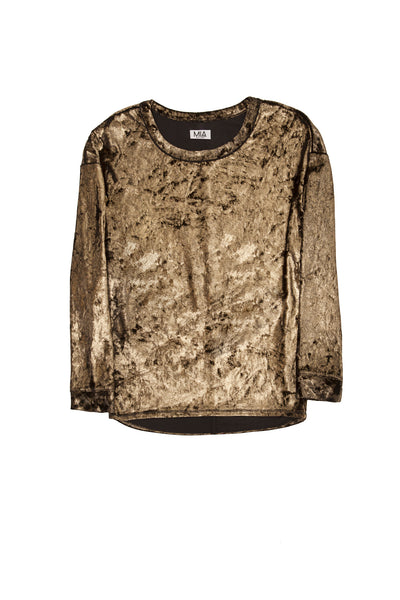 VELOUR DOLMAN GOLD