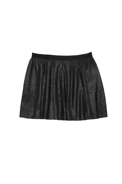 SUEDED SKATER SKIRT BLACK