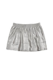 SUEDED SKIRT SILVER