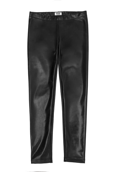 PLEATHER LEGGING BLACK