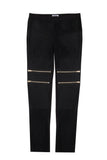 COATED ZIPPER PANT BLACK