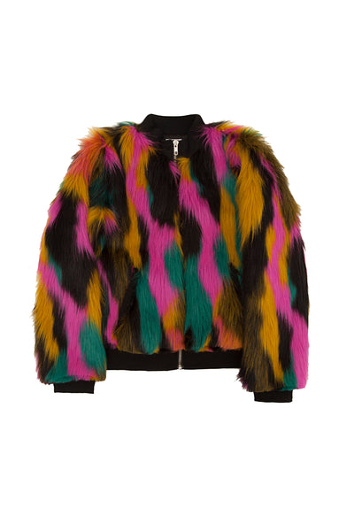 CRAZY FUR JACKET MULTI
