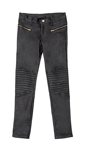 ALLOVER COATED MOTO PANTS