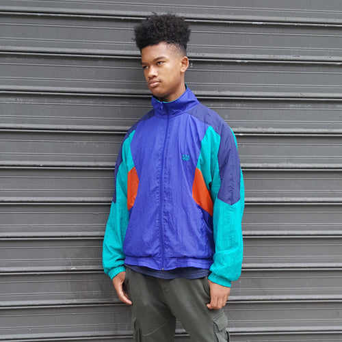 80's Color Blocked Windbreaker