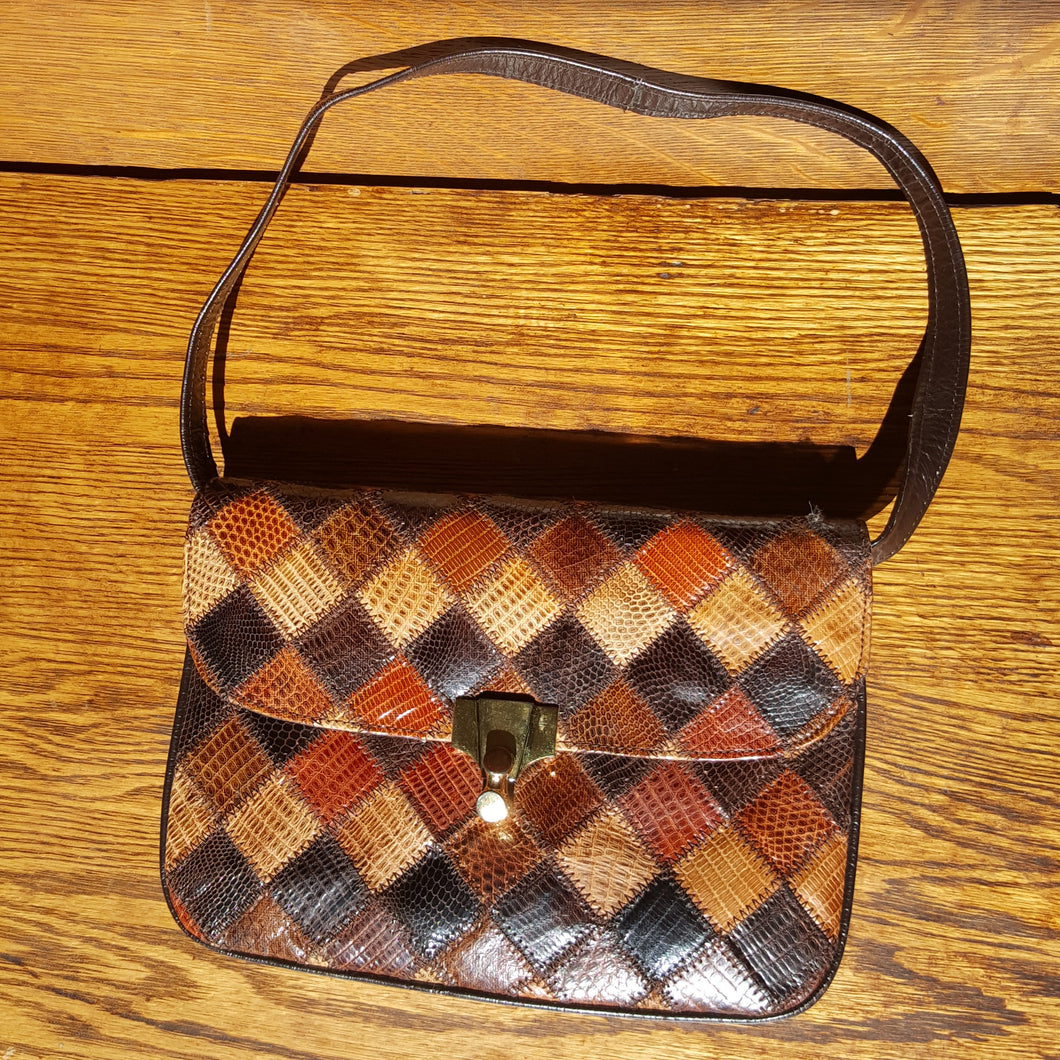 Patchwork Snakeskin Purse