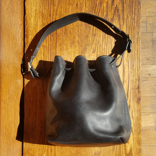 Leather Coach Bucket Bag