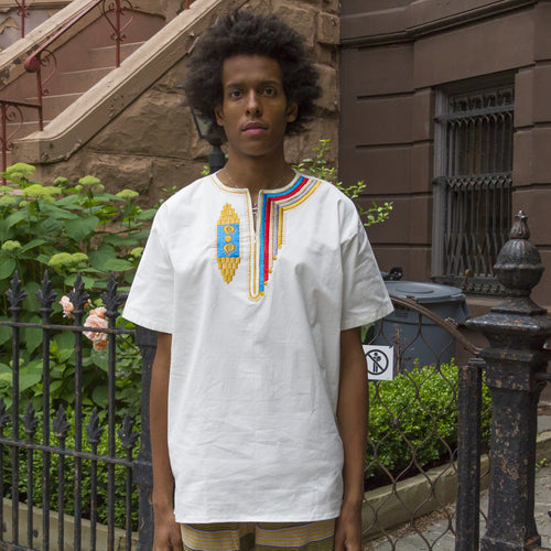 White Embroidered Dashiki