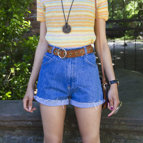 90s High Waist Denim Shorts