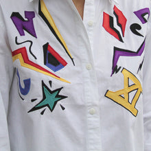 80s Cotton Blouse with Graphic