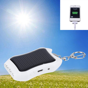 Solar Keychain Solar Charger Mobile Power Supply 1200mAH