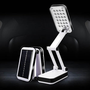 Solar Power 24 LED Desk Lamps Reading Light LED Table Lamps For Bedroom Foldable Adjustable Rechargeable Charge Book Light 220V