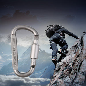 1pcs 8* 4.2cm Outdoor Sports Aluminium Alloy Safety Buckle Keychain Climbing Button Carabiner Camping Hiking Hook free shipping