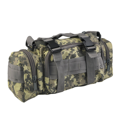 Men Military Equipment Bag Tactical Camping Hiking Bike Waist Hand Travel Shoulder Bag free shipping