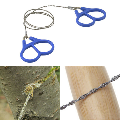 Worldwide Outdoor Scroll Steel Wire Saw Emergency Travel Camping Hiking Survival Tool