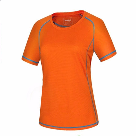 Women's Slim Outdoor Sports Running Quick-drying Short Sleeve Crew T-shirt Free Shipping