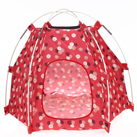 Breathable Oxford Print Pet Tent House Outdoor Indoor Cats Puppy Dog Kennel House for Small Medium Dog Pet Products