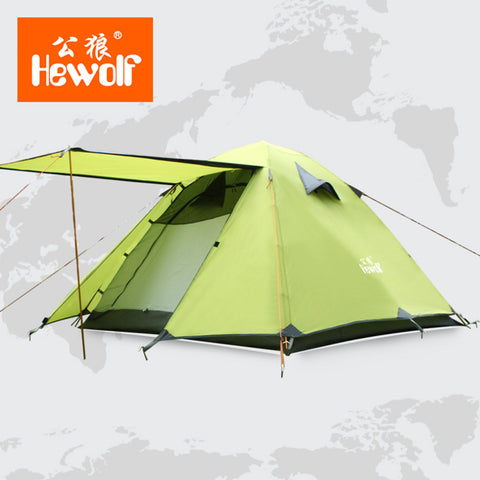 Double Layer 3 4 Person Tents Rainproof Waterproof Outdoor Camping Tent Tourist Tent For Hunting Picnic Party Hiking Camping New