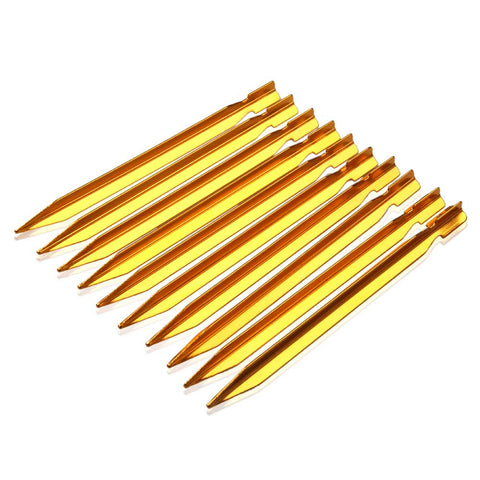 10Pcs 18cm Tent Pegs Nail Aluminium Alloy Outdoor Nail Camping Tent Peg Stakes Camping Equipment Outdoor Traveling Tent Building