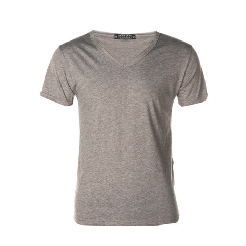 Mens Slim Fit Cotton V-Neck Short Hiking T-shirts Sleeve T-Shirt