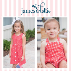 james and lottie red stars new clothing