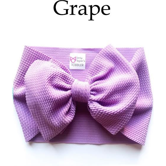 Little Lopers Bow: Grape (All Styles)