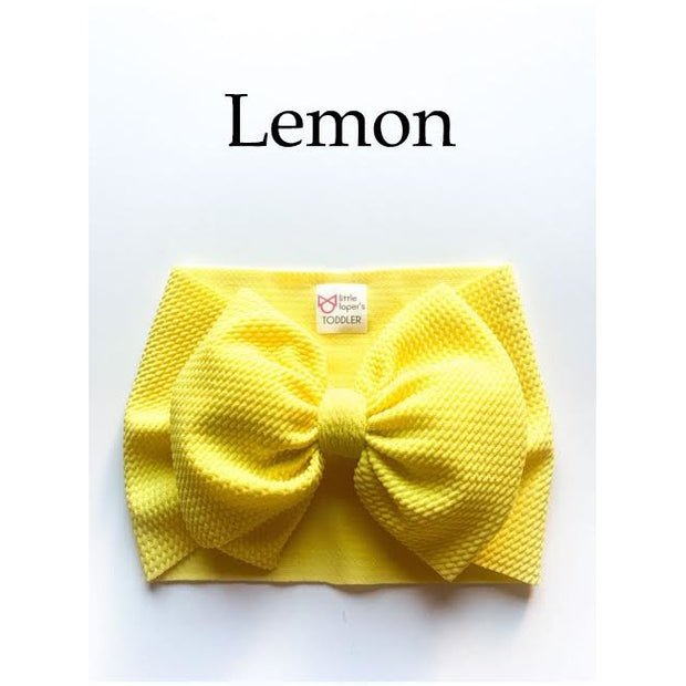 Little Lopers Bow: Lemon (All Styles)