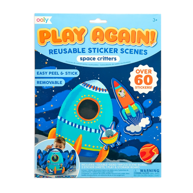 OOLY: Play Again! Reusable Sticker Scenes: Space Critters