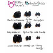 Little Lopers Bow: Black (All Styles)