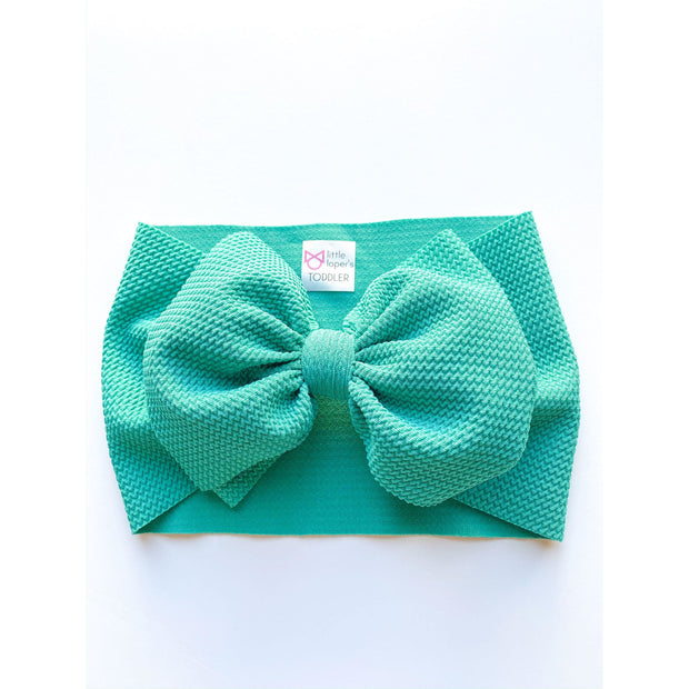 Little Lopers Bow: Emerald (All Styles)