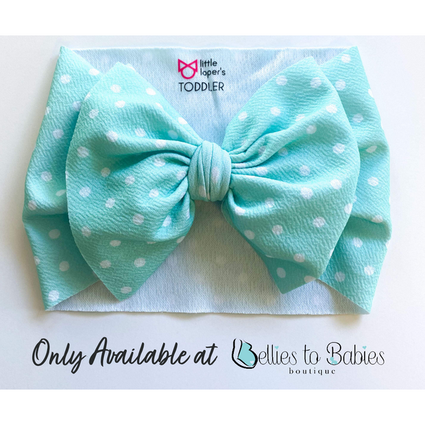 Little Lopers Bow: Seaside Dots (All Styles) - *A Bellies to Babies EXCLUSIVE*