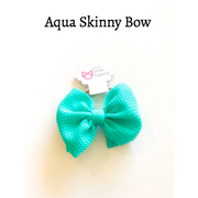 Little Lopers Bow: Aqua (All Styles)