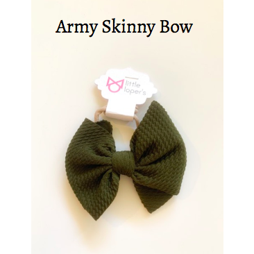 Little Lopers Bow: Army (All Styles)