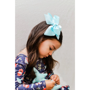 Little Lopers Ribbon Bow: Baby Blue