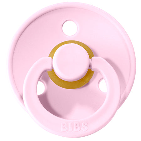 BIBS Pacifiers: Classic Round - Baby Pink