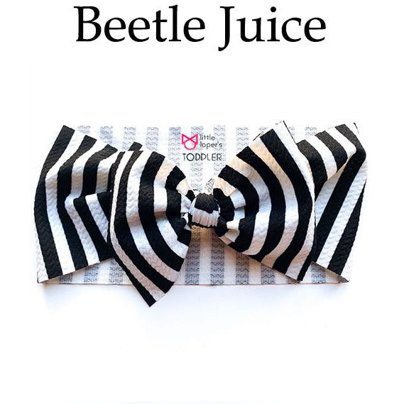 Little Lopers Bow: Beetle Juice (All Styles)