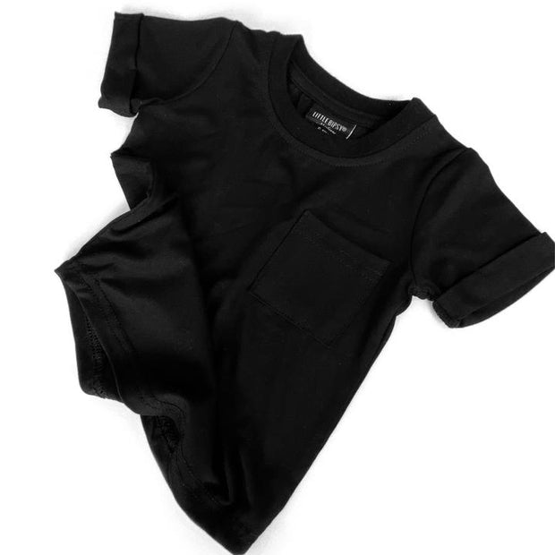 Little Bipsy Pocket Tee: Black