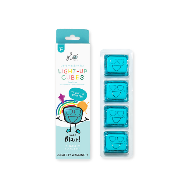 Glo Pals: 4 Pack Light Up Cubes Blue - Blair