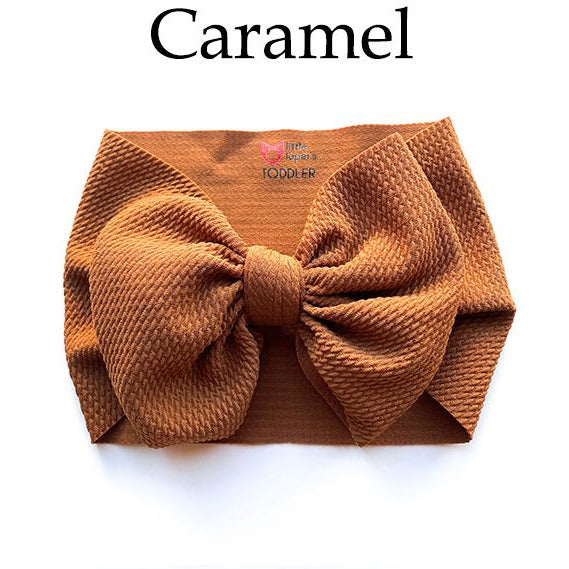 Little Lopers Bow: Caramel (All Styles)
