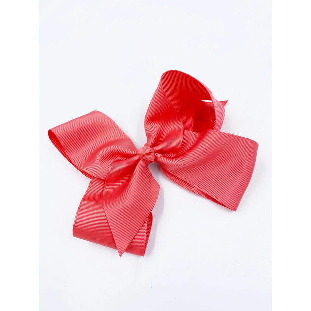 Little Lopers Ribbon Bow: Coral