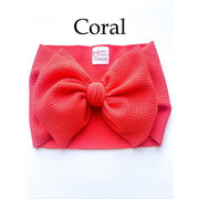 Little Lopers Bow: Coral (All Styles)