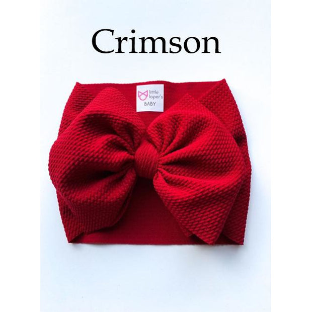 Little Lopers Bow: Crimson (All Styles)
