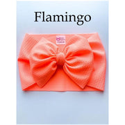 Little Lopers Bow: Flamingo (All Styles)