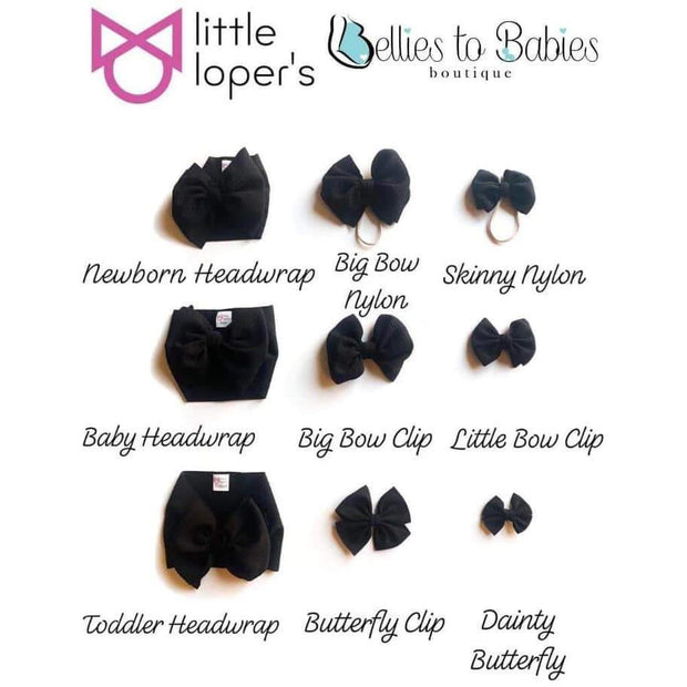 Little Lopers Bow: Houndstooth (All Styles)
