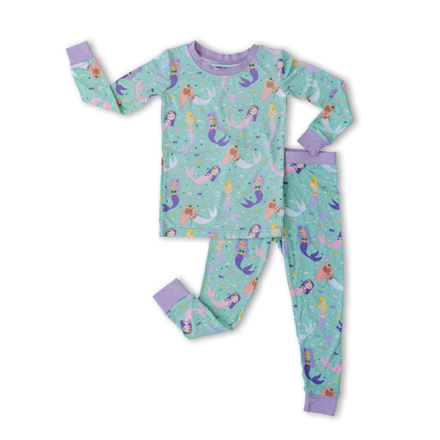 Little Sleepies Short Sleeve Two-Piece Pajama Set: Mermaid Magic